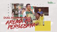 Duel pemain muda Arema FC vs Persebaya Surabaya.. (Bola.com/Dody Iryawan)