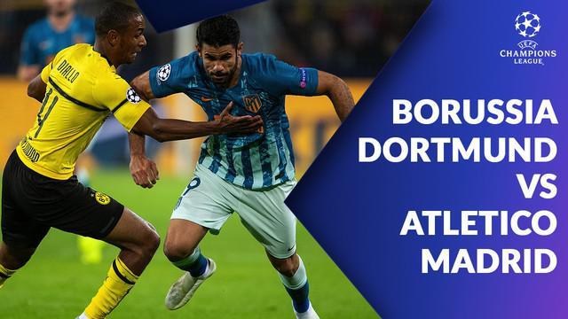 Berita video statistik laga Borussia Dortmund vs Atletico Madrid pada laga matchday ke-3 Liga Champions 2018-2019, Kamis (25/10/2018).