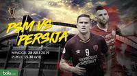Final Piala Indonesia: Duel Pemain PSM Makassar vs Persija Jakarta,Marko Simic dan Eero Markkanen. (Bola.com/Dody Iryawan)