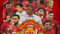 Manchester United - Ilustrasi Ole Gunnar Solskjaer dan Pemain (Bola.com/Adreanus Titus)