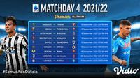Jadwal dan Live Streaming Liga Italia Serie A 2021/2022 di Vidio Pekan Keempat, 18 Hingga 21 September 2021. (Sumber : dok. vidio.com)