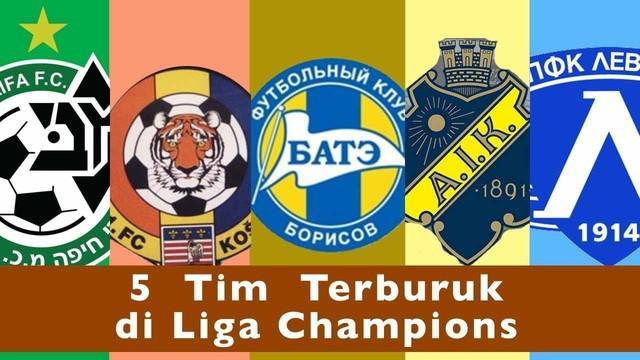 Video 5 tim terburuk dalam sejarah Liga Champions versi 90MIN, Tim Bate Borisov memiliki selisih gol 2-24 menjadi rekor terburuk di Liga Champions.