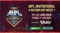 Saksikan MPL Invitational 4 Nation Cup di aplikasi streaming Vidio. (Sumber: Vidio)