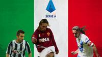 Serie A - Alessandro Del Piero, Gabriel Batistuta, Roberto Baggio (Bola.com/Adreanus Titus)