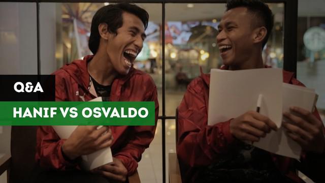 Dua pemain timnas Indonesia, Osvaldo Haay dan Hanif Sjahbandi, akan diuji kekompakannya dalam menjawab pertanyaan-pertanyaan dari redaksi Bola.com