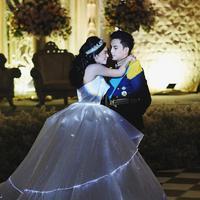 Pernikahan yang berkonsep Disney.