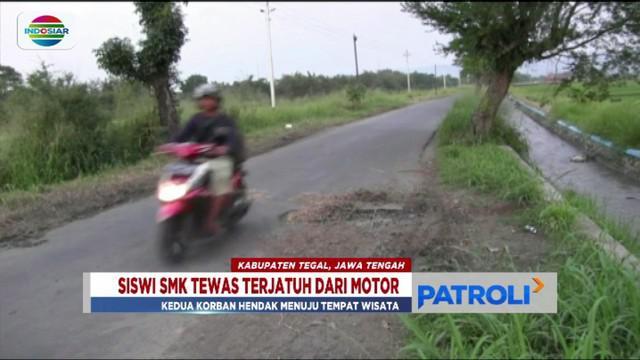 Dua sahabat siswi SMK di Tegal, Jawa Tengah, tewas kecelakaan saat dalam perjalanan ke tempat wisata.
