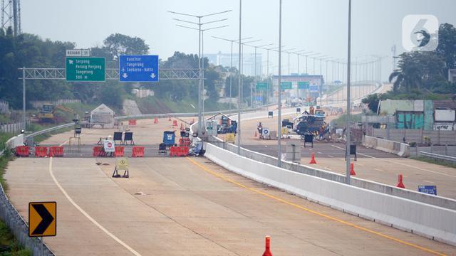 Menengok Pembangunan  Jalan Tol Serpong-Cinere yang Hampir Rampung