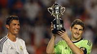 7. Iker Casillas adalah pemegang rekor penampilan terbanyak bersama Real Madrid di Liga Champions dengan 152 penampilan. Sedangkan Cristiano Ronaldo baru tampil sebanyak 79 partai bersama Real Madrid. (www.squawka.com)