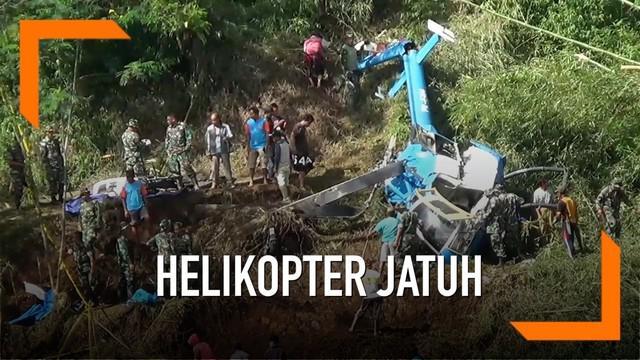 Helikopter yang jatuh di Tasikmalaya akan segera dievakuasi.