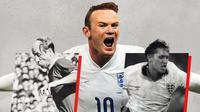 Sir Bobby Charlton, Wayne Rooney dan Gary Lineker. (Bola.com/Dody Iryawan)