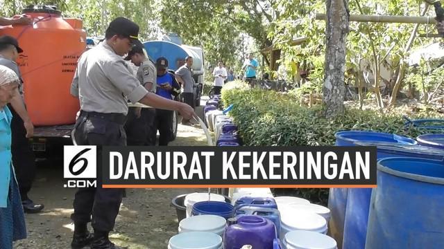 Bupati Kulon Progo mengumumkan status darurat kekeringan di daerahnya. Hingga kini sudah tujuh kecamatan yang meminta bantuan air bersih.