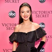 Raline Shah saat menghadiri acara Victoria's Secret Fashion Show (Theo Wargo / GETTY IMAGES NORTH AMERICA / AFP/Komarudin)