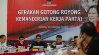 PDIP menggelar diskusi menjelang rapat kerja nasional (rakernas) (Liputan6.com/ Faizal Fanani)