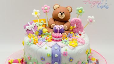 10 Model Kue Ulang Tahun Fondant Bentuk Teddy Bear Lucu
