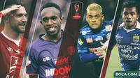 Piala Presiden - Zulham Zamrun (Persib), Cristian Gonzales (Arema), Marko Simic, Ricky Kayame (Bola.com/Adreanus Titus)