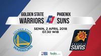 Jadwal NBA, Golden State Warrior Vs Phoenix Suns. (Bola.com/Dody Iryawan)