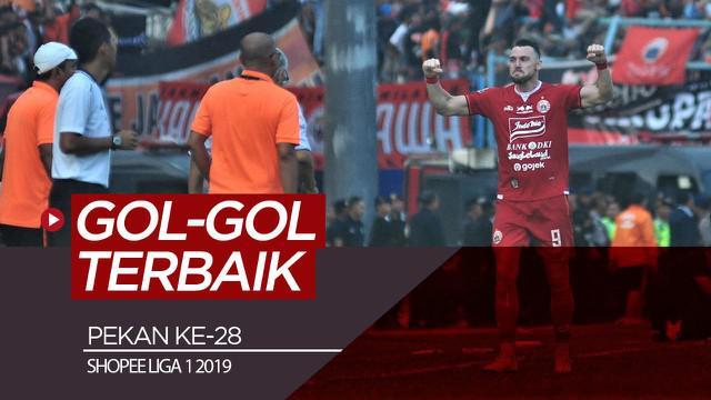 Berita video gol-gol terbaik yang tercipta pada pekan ke-28 Shopee Liga 1 2019.