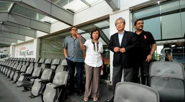 Delegasi OCA meninjau beberapa tempat penyelenggaraan Asian Games 2018 di sekitar Gelora Bung Karno.
