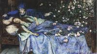 Lukisan Aurora dalam Sleeping Beauty saat terkena mantra tidut oleh Henry Meynell Rheam (Wikipedia)