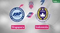 Laga Piala AFF 2018 antara Singapura vs Indonesia. (Bola.com/Dody Iryawan)