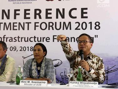 Menteri BUMN Jelaskan Target Pertumbuhan Ekonomi di Indonesia Investment Forum 2018
