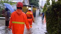 Banjir di Perumahan Pondok Asri akibat Longsoran yang menutup Kali Kupet. (Foto: Dicky Agung/Liputan6.com).