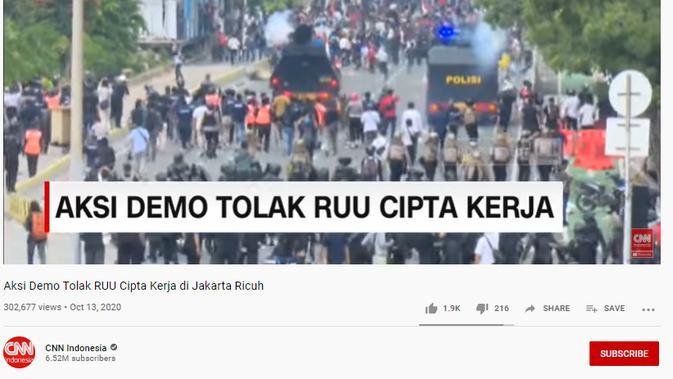 Cek Fakta Liputan6.com menelusuri klaim hanya stasiun televisi asing yang memberitakan demonstrasi