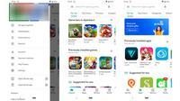 Tampilan UI Google Play Store berubah menjadi lebih minimalis dan tampak premium. (Liputan6.com/ Yuslianson)