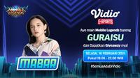 Live streaming mabar Mobile Legends bersama Guraisu, Selasa (16/2/2021). (Dok. Vidio)
