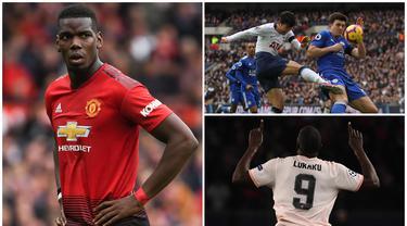 Harry Maguire baru saja memecahkan rekor transfer dengan menjadi bek termahal di dunia setelah didatangkan Manchester United dari Leicester. Berikut ini tujuh pemain termahal Manchester United sepanjang masa. (Kolase Foto dari AFP)