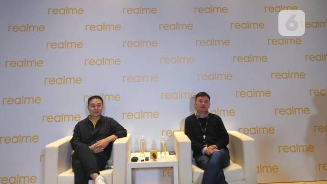 Xu Qi Chase, Vice President of realme, President of Global Marketing & Wang Wei Derek, Vice President of realme, President of Global Product. Liputan6.com/Diyah Naelufar