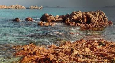 Pulau Budelli di Italia