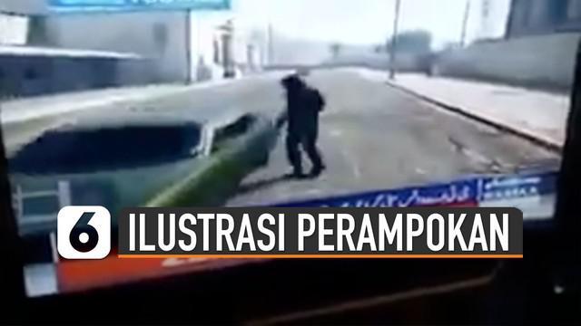 Kejadian kocak terjadi di salah stasiun tv Pakistan. Ketika menampilkan ilustrasi perampokan menggunakan game GTA V.