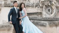 Jusup Maruta Cayadi dan Clarissa Wang pasangan yang rencana pernikahannya viral di media sosial. (dok. Instagram @njsmakeup/https://www.instagram.com/p/BqxBJkDnjLG/Asnida Riani)