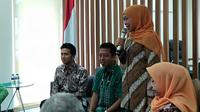 Pasangan Cagub dan Cawagub Khofifah Indar Parawansa - Emil Dardak menyambangi PPP. (Merdeka.com/ Ahda Bayhaqi)