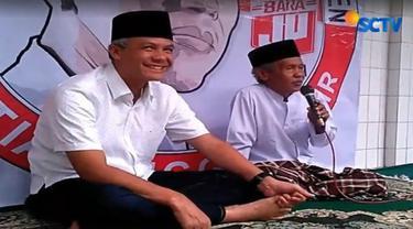 Ganjar meminta masyarakat agar tidak mudah percaya dengan berita bohong maupun hoaks. Pasar dipilih Sudirman karena beralasan ingin menggerakan ekonomi rakyat agar rakyat Jawa Tengah bisa lebih sejahtera.