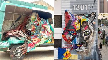 Seniman Ini Ubah Sampah Jadi Karya Seni Unik, 6 Hasilnya Menakjubkan
