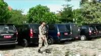 Sejumlah mobil dinas diparkir di halaman Kantor DPRD dan Pemprov Jawa Tengah.