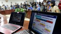 Suasana konferensi pers terkait batas akhir layanan bertahap kartu prabayar telekomunikasi di Kominfo, Jakarta, Rabu (28/2). Kemenkominfo menegaskan batas akhir pendaftaran ulang nomer prabayar seluler pada hari ini. (Liputan6.com/JohanTallo)