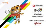 Banner Livestreaming Semifinal Bulu Tangkis sea games 2017
