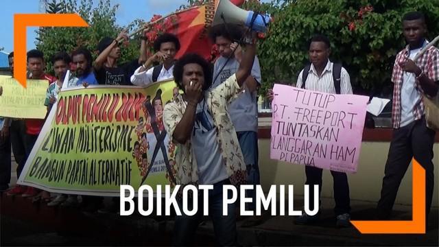 Mahasiswa dI Ambon mengajak masyarakat untuk golput dan boikot pemilu.