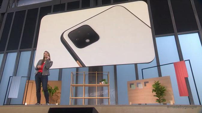 Sabrina Ellis, Vice President of Product Management di Google, menjelaskan sedikit tentang Pixel 4. (Doc: Google)