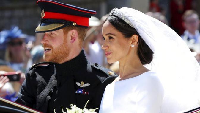 Meghan Markle tampil memukau dengan penampilannya saat menikah dengan Pangeran Harry, 19 Mei 2018 (AP Photo)#source%3Dgooglier%2Ecom#https%3A%2F%2Fgooglier%2Ecom%2Fpage%2F%2F10000