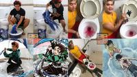 6 Cosplay Low Budget di Kamar Mandi Ini Kelewat Unik (sumber: Instagram/lowcostcosplayth)