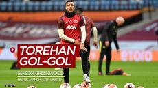 Berita video catatan torehan gol-gol Mason Greenwood untuk Manchester United pada musim 2019-2020.