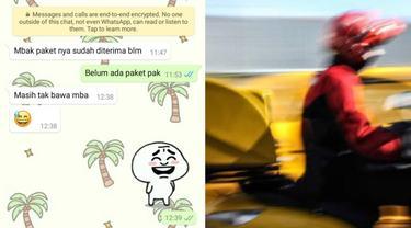 Chat Kocak Antara Kurir dan Pelanggan, Bikin Ketawa Ngakak