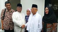 Cawapres Ma'ruf Amin dan Ketua DPD Oesman Sapta Odang menggelar silaturahmi. Senin (3/6/2019). (Merdeka.com/Intan Umbari)