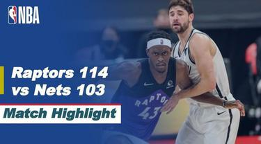 Berita video highlight NBA, Brooklyn Nets Dipermalukan Toronto Raptors 114-103, Kamis (22/4/2021).