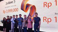 Peluncuran Asus Zenfone 5 di Jakarta, Kamis (17/5/2018). Liputan6.com/ Agustinus Mario Damar